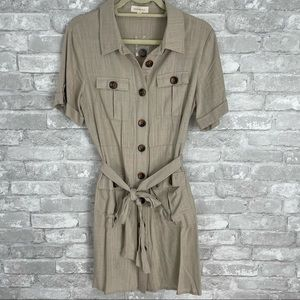 NWT Promesa Button Down Shirt Dress